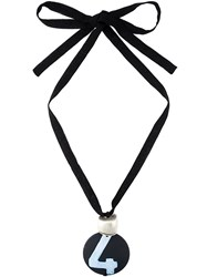 Maria Calderara Pendant Necklace Black