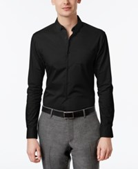 Inc International Concepts Men's Slim Fit Stretch Shirt Only At Macy's Black