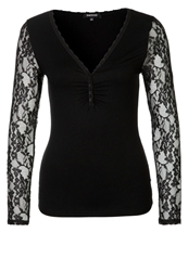 Morgan Tida Long Sleeved Top Noir Black
