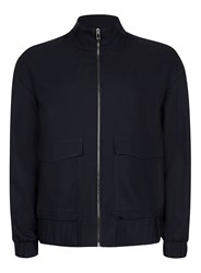 Topman Blue Navy Zip Through Smart Track Top