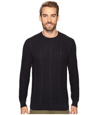 Lacoste Long Sleeve Resort Cotton Cable Crew Neck Cosmos Men's Sweater Blue