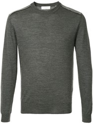 Cerruti 1881 Long Sleeve Fitted Sweater Grey