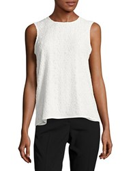 Karl Lagerfeld Lace Trimmed Shell Soft White