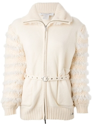 Christian Dior Vintage Knitted Fur Detail Cardigan
