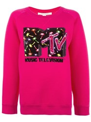 Marc Jacobs Embellished Sweatshirt Pink Purple