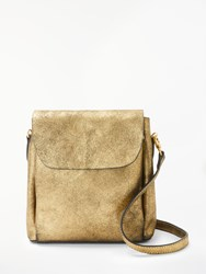 And Or Isabella Metallic Mini Leather Backpack Gold