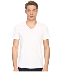 Vince Short Sleeve Slub V Neck Shirt Optic White