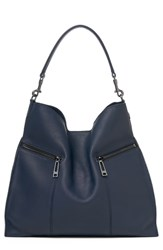Botkier Trigger Pebbled Leather Hobo Blue Navy