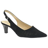 Gabor Niagra Sling Back Court Shoes Black
