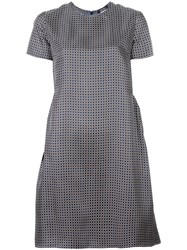 Max Mara 'S Geometric Print Shift Dress Blue