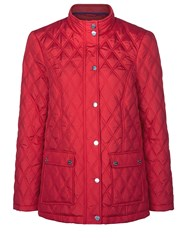 Dash Short Double Diamond Coat Red