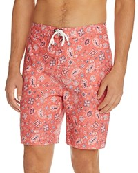 Trunks Indian Paisley Swami Swim Red