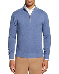 Brooks Brothers Textured Half Zip Sweater Light Blue
