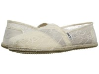 Toms Wedding Classic White Lace Women's Slip On Shoes