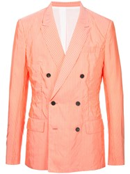 Haider Ackermann Double Breasted Blazer Yellow And Orange