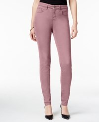 Style And Co Co. Petite Curvy Fit Skinny Jeans Colored Wash French Orchid