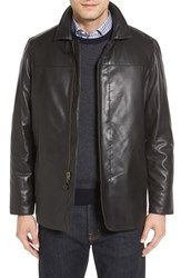 Missani Le Collezioni Men's Reversible Lambskin Leather And Quilted Wool Jacket Black