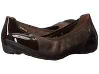 Mephisto Elettra Dark Brown Patent Pewter Print Women's Slip On Shoes