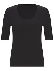 John Lewis Half Sleeve Scoop Neck T Shirt Black