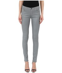 Armani Jeans Silk Shiny Evening Denim Grey Women's Jeans Gray