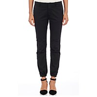 Nili Lotan Women's Stretch Cotton French Military Pants Navy