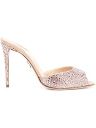 Paul Andrew 'Aristata Strass' Mules Pink And Purple