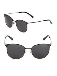3.1 Phillip Lim 53Mm Single Bridge Clubmaster Sunglasses Black