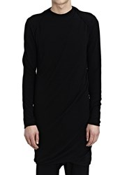 Thamanyah Long Sleeve Crew Neck Long Dou Black