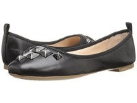 Marc Jacobs Cleo Studded Ballerina Black Leather Women's Ballet Shoes
