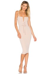 Nookie Madison Midi Dress Beige