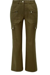 Michael Kors Collection Cotton Twill Cargo Pants Army Green