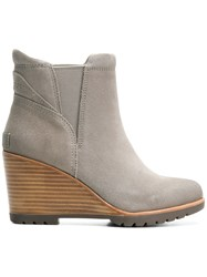 Sorel Wedge Ankle Boots Grey