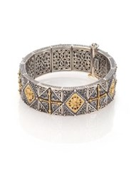 Konstantino Engraved Sterling 18K Yellow Gold And Sterling Silver Bracelet Silver Gold