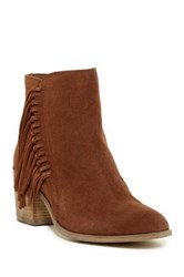 Kenneth Cole Reaction Rotini Fringe Ankle Boot Red