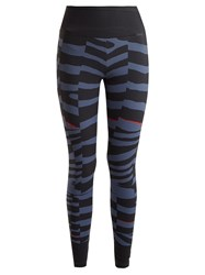 Adidas By Stella Mccartney Training Miracle Zebra Print Performance Leggings Blue Multi