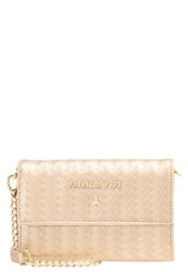 Patrizia Pepe Across Body Bag Shiny Gold White