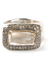 Rosa Maria 'Nasila' Grey Diamond Topaz Ring Metallic