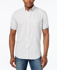 Weatherproof Linen Solid Slub Short Sleeve Shirt Cement