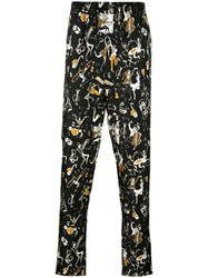 Dolce And Gabbana Musical Print Pyjama Trousers Black