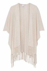 Iris And Ink Francis Fringed Cashmere Wrap Beige