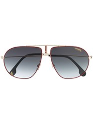 Carrera Aviator Sunglasses Red