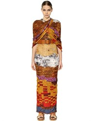 Givenchy Printed Viscose Jersey Long Dress