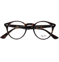 Ray Ban Round Frame Tortoiseshell Acetate Optical Glasses Tortoiseshell