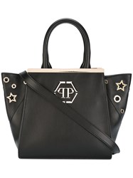 Philipp Plein Top Handle Tote Women Leather Polyester One Size Black
