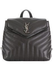Saint Laurent Small Loulou Backpack Grey