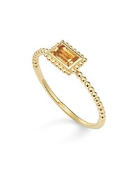 Lagos 18K Gold Citrine Baguette Stack Ring Orange Gold