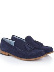 Grenson Grayson Suede Loafers Navy
