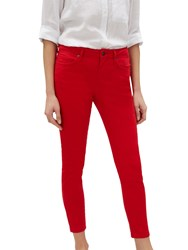 Jaeger High Waisted Skinny 7 8 Jeans Red