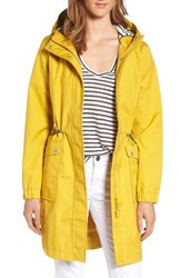 Joules Women's Right As Rain Waterproof Hooded Jacket Antique Gold