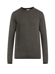 Raey Double Trim Cashmere Sweater Grey
